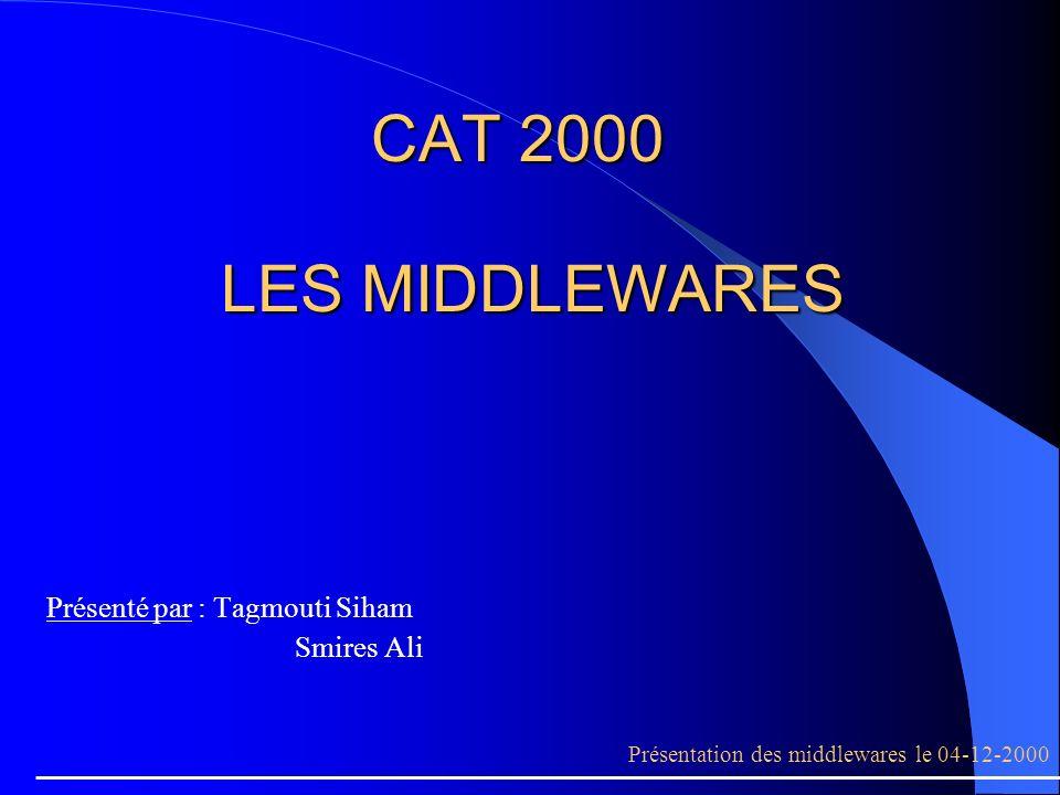 PLAN Les problèmes à résoudre.Le middleware. Le model client serveur.