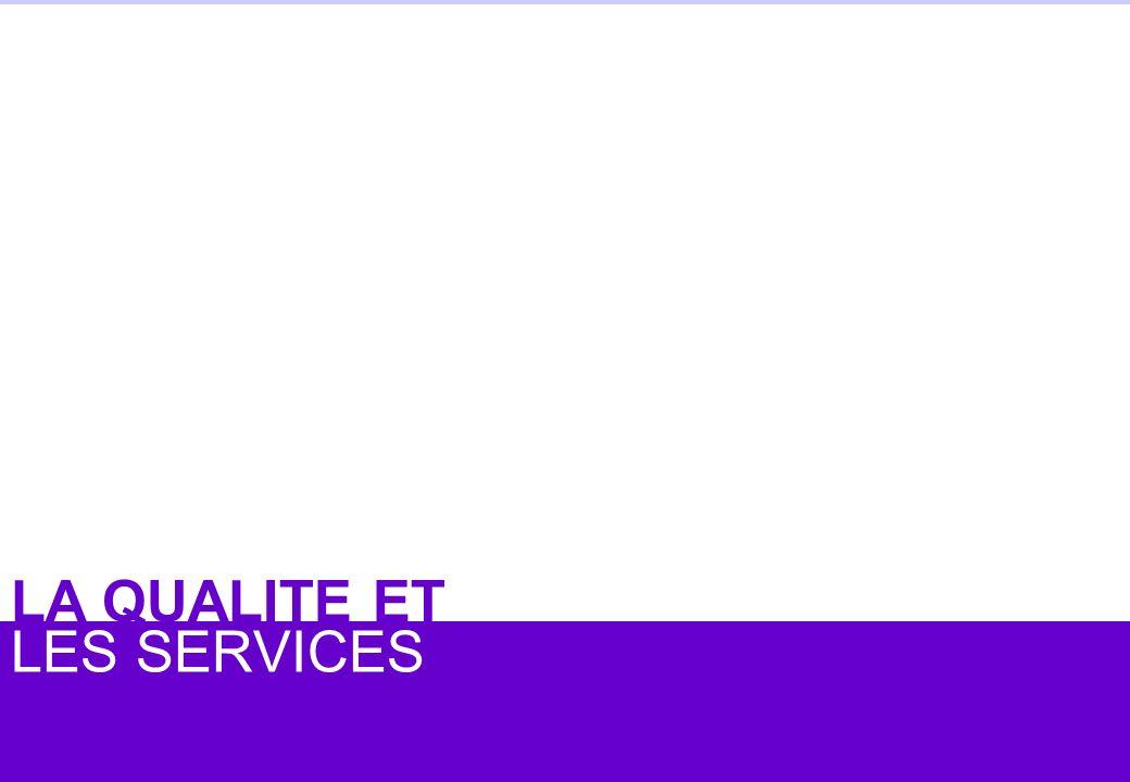 © Jean-antoine Canard 2005 LES SERVICES LA QUALITE ET
