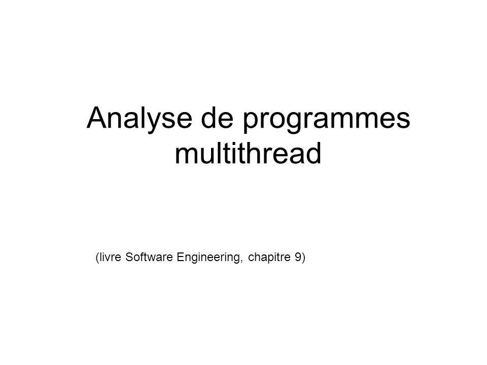 Analyse de programmes multithread (livre Software Engineering, chapitre 9)