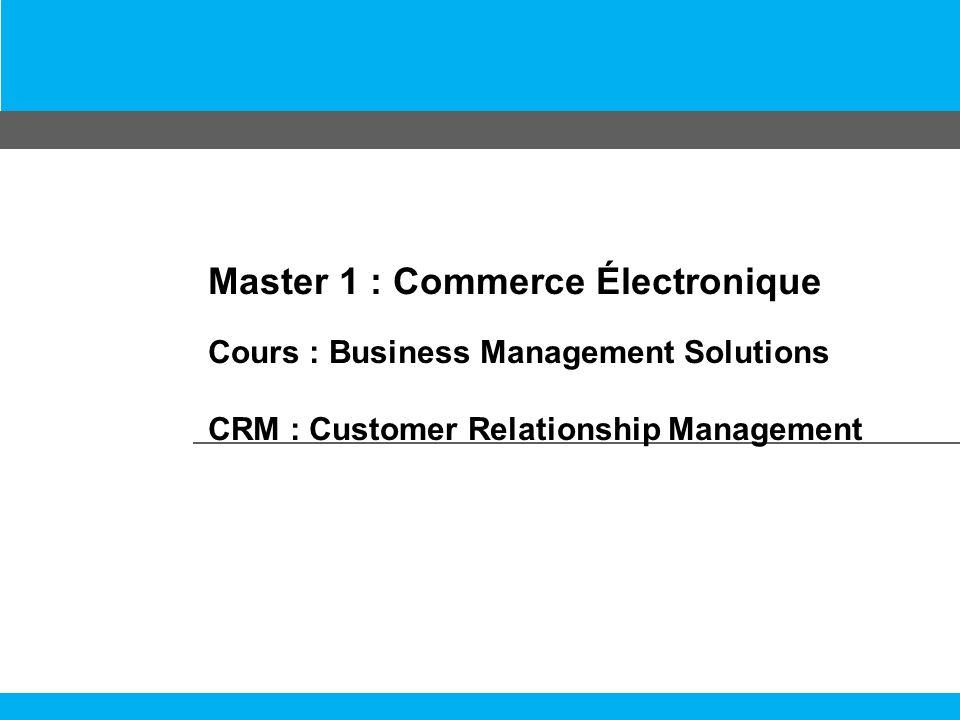 Plan du Cours Définition dun CRM Historique des logiciels CRM Architecture des logiciels CRM Les fonctions du CRM Le CRM opérationnel Le CRM analytique Le CRM collaboratif Utilité du CRM Les avantages du CRM Les inconvénients du CRM Les fournisseurs selon le marché 2