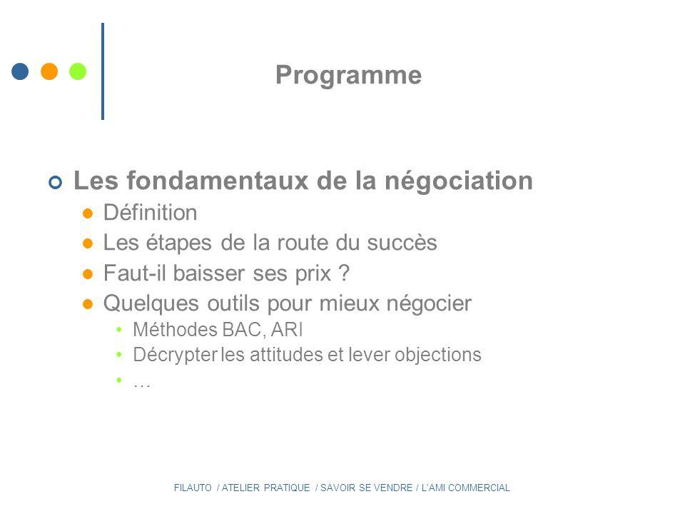 Définition de négocier : Discuter pour parvenir à un accord A quelle étape de la relation avec un futur client associez-vous ce terme .