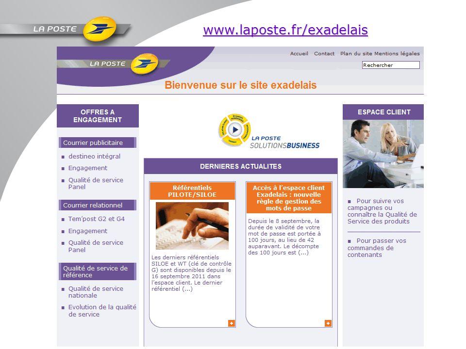 www.laposte.fr/exadelais Page daccueil