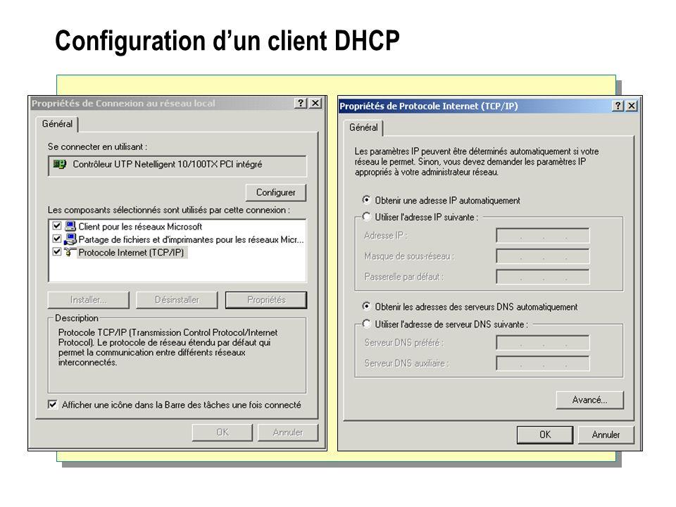 Configuration dun client DHCP