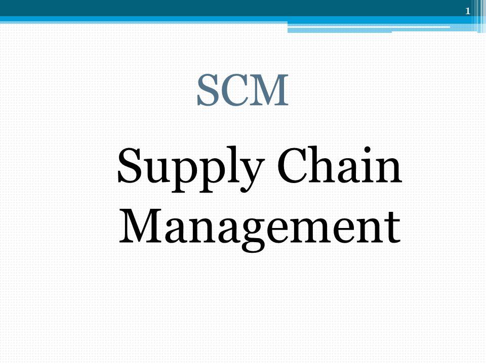SCM Supply Chain Management 1