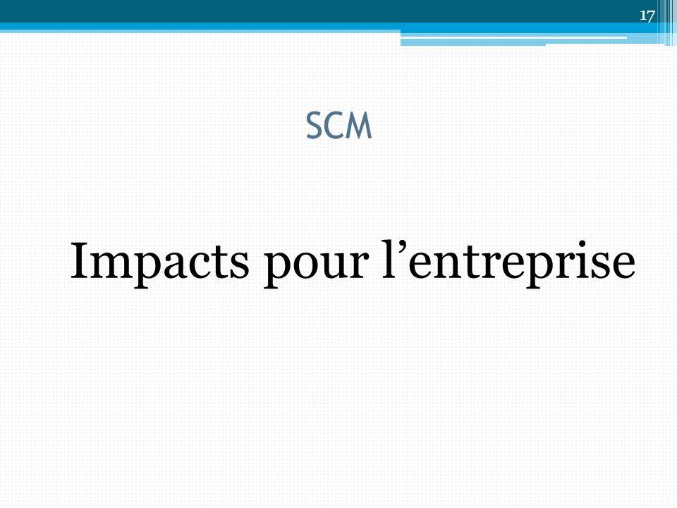 SCM Impacts pour lentreprise 17