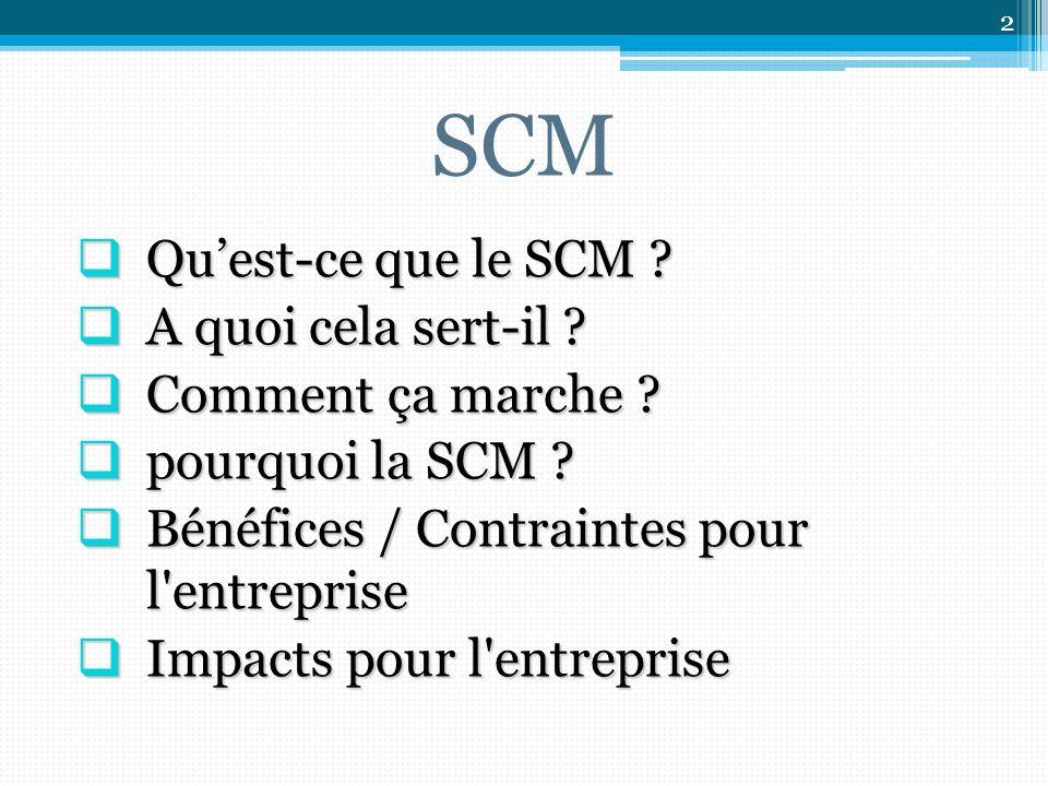 SCM Quest-ce que le SCM .Quest-ce que le SCM . A quoi cela sert-il .