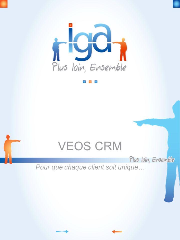 VEOS CRM Pour que chaque client soit unique…