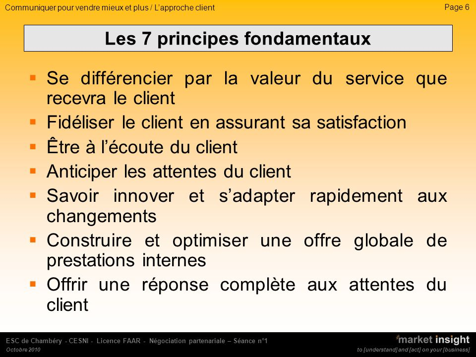 Page 17 to [understand] and [act] on your [business] ESC de Chambéry - CESNI - Licence FAAR - Négociation partenariale – Séance n°1 Octobre 2010 LE LANGAGE NON VERBAL