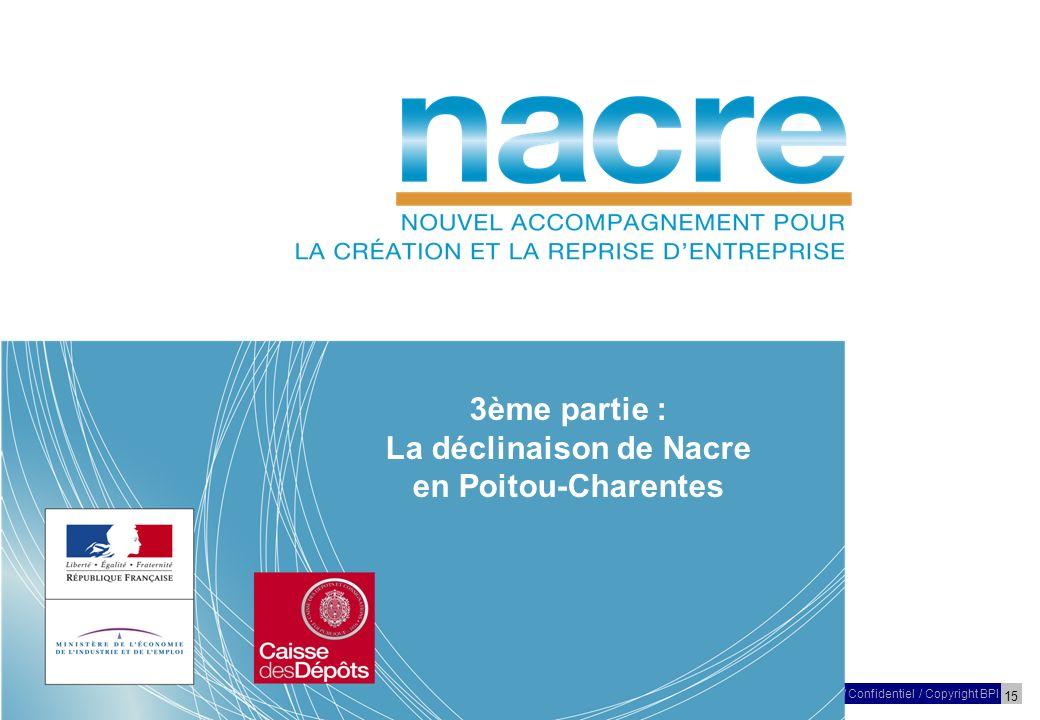 15 27 Mars 2009/ Confidentiel / Copyright BPI Réunion – NACRE – Poitou-Charentes 3ème partie : La déclinaison de Nacre en Poitou-Charentes
