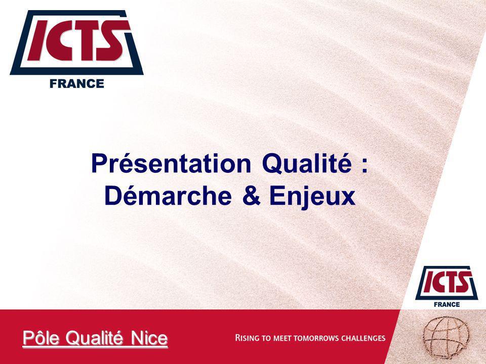 Présentation Qualité : Démarche & Enjeux Pôle Qualité Nice