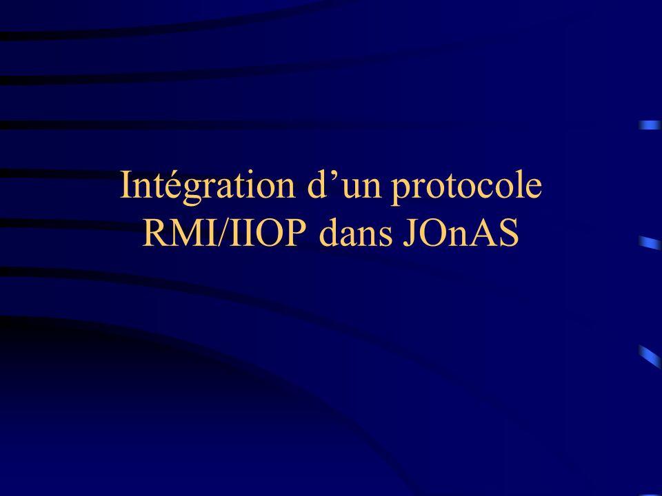 Intégration dun protocole RMI/IIOP dans JOnAS