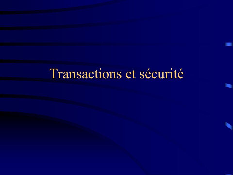 Transactions et sécurité