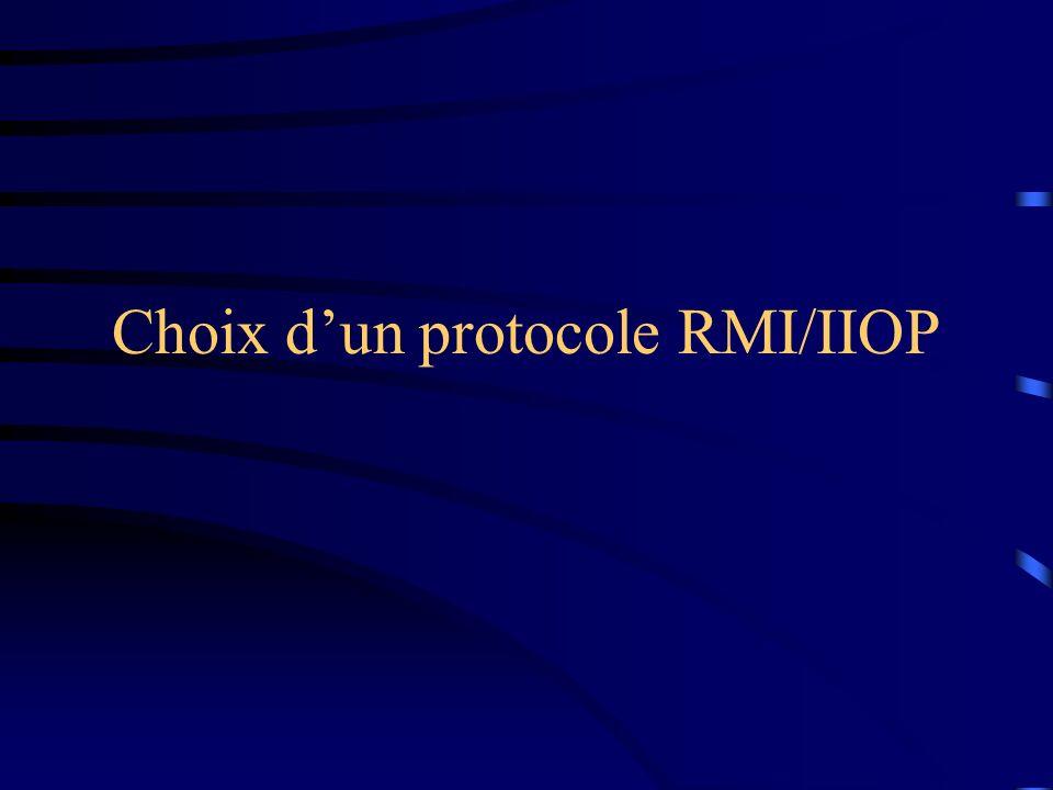 Choix dun protocole RMI/IIOP