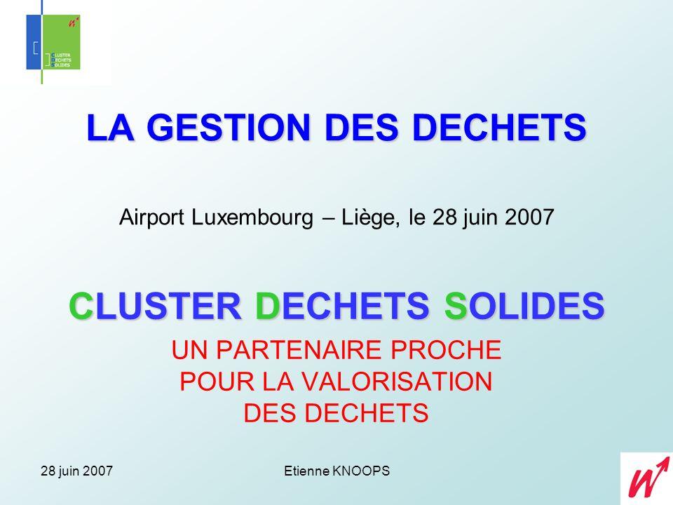 28 juin 2007Etienne KNOOPS Administrateur – Délégué Rue de Dampremy 77 Tél.