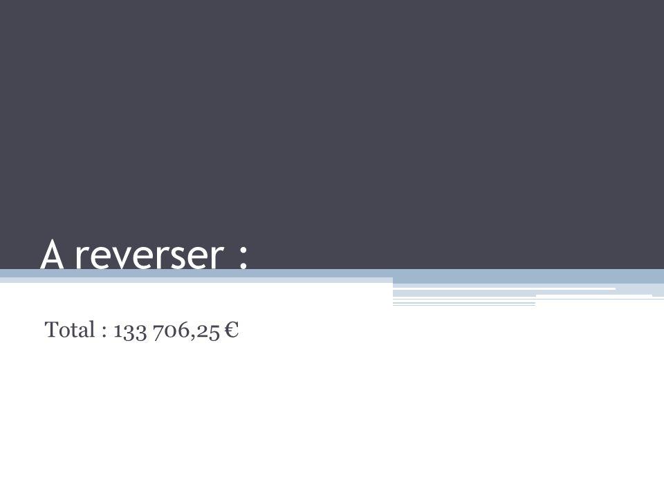 A reverser : Total : 133 706,25