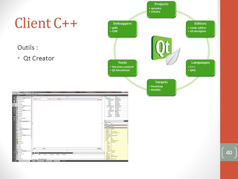 Client C++ Outils : Qt Creator 40