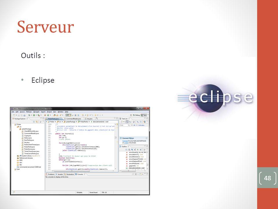 Serveur Outils : Eclipse 48