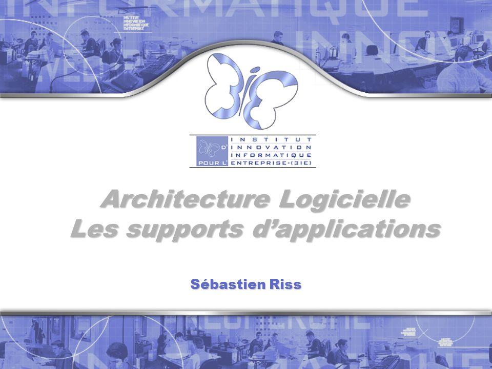 Architecture Logicielle Les supports dapplications Sébastien Riss