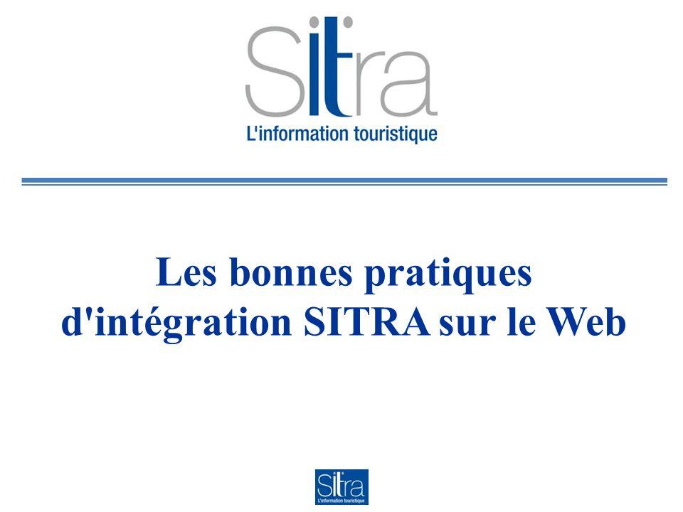 Les bonnes pratiques d intégration SITRA sur le Web