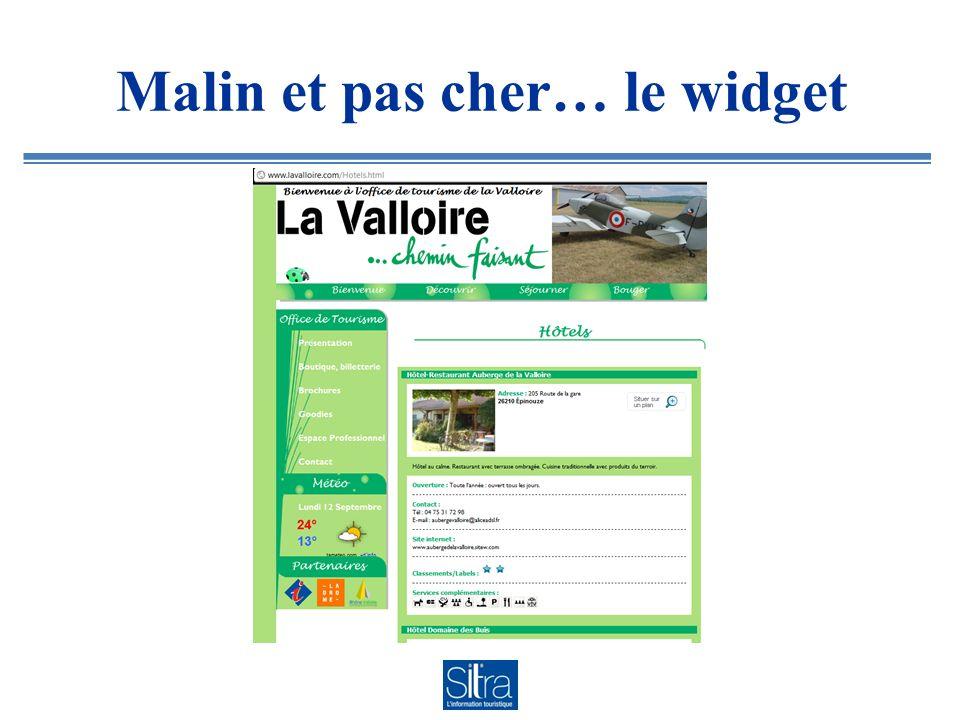 Site mobile 100% widget Sitra (fait avec un budget de 70 !) : www.loireforez.mobi www.loireforez.mobi
