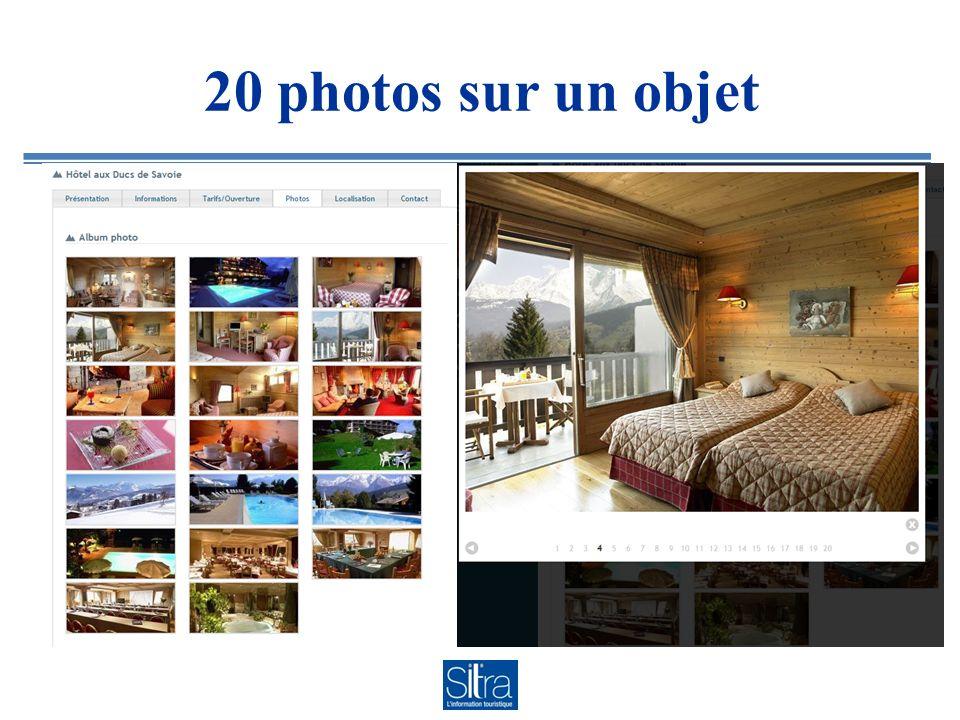 20 photos sur un objet