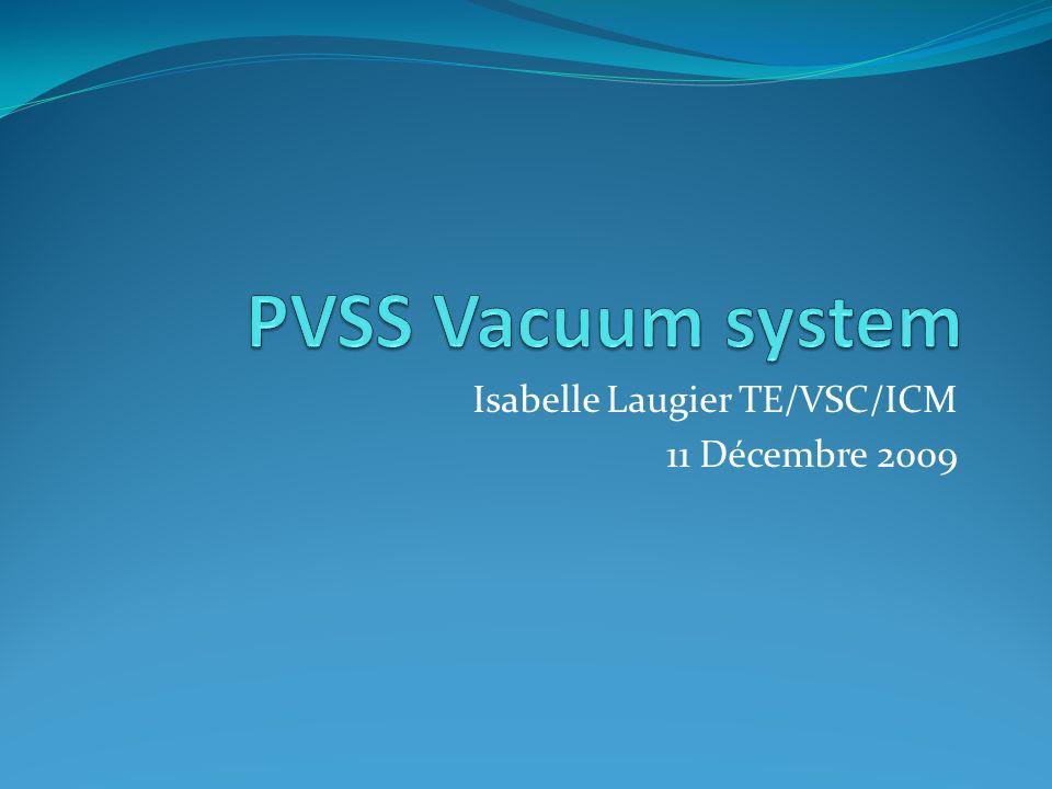 Isabelle Laugier TE/VSC/ICM 11 Décembre 2009