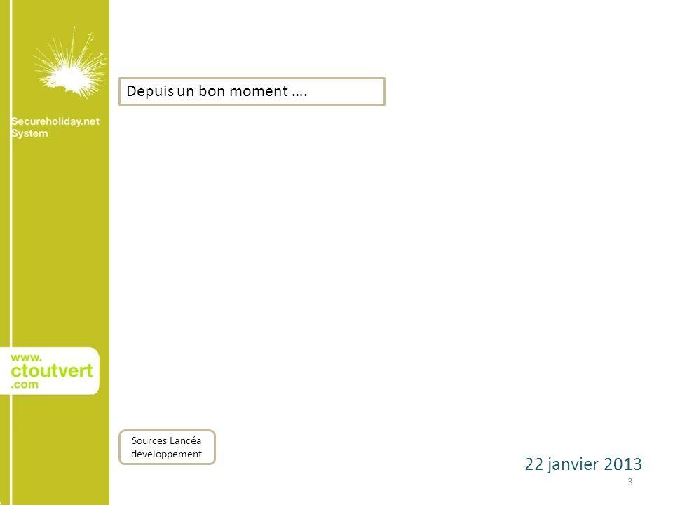 22 janvier 2013 4 ConquêteSéduction Sources Lancéa développement Information Depuis un bon moment ….