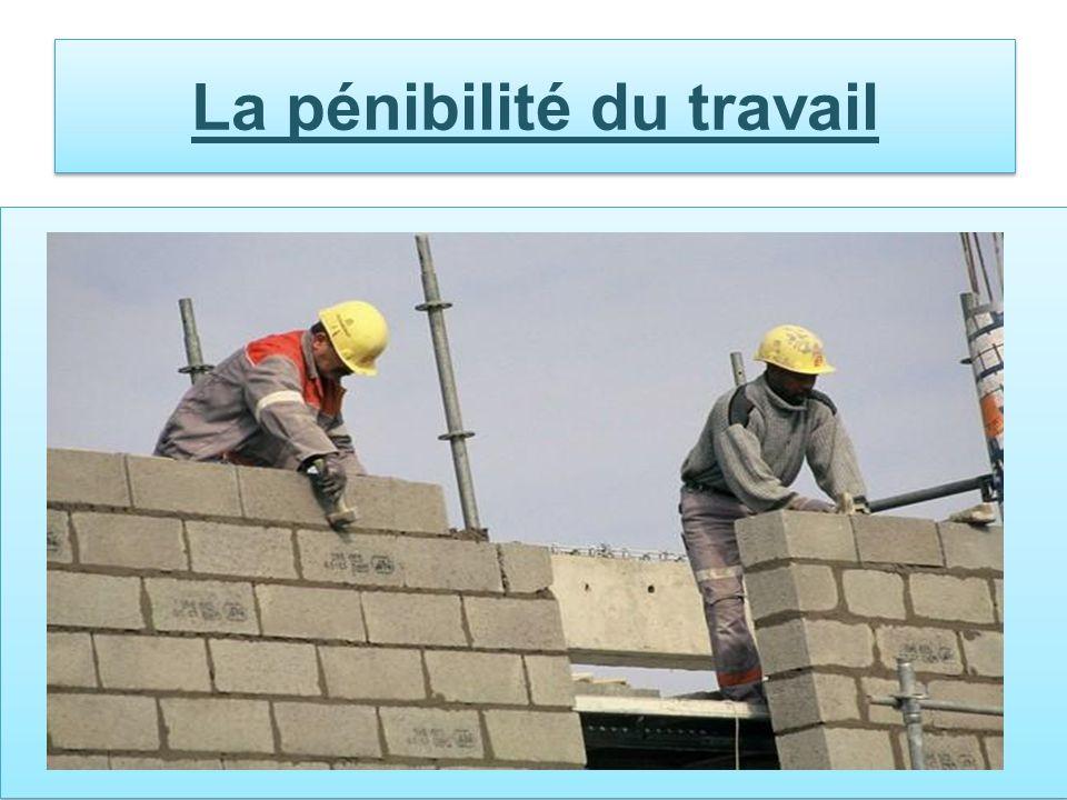 La pénibilité du travail