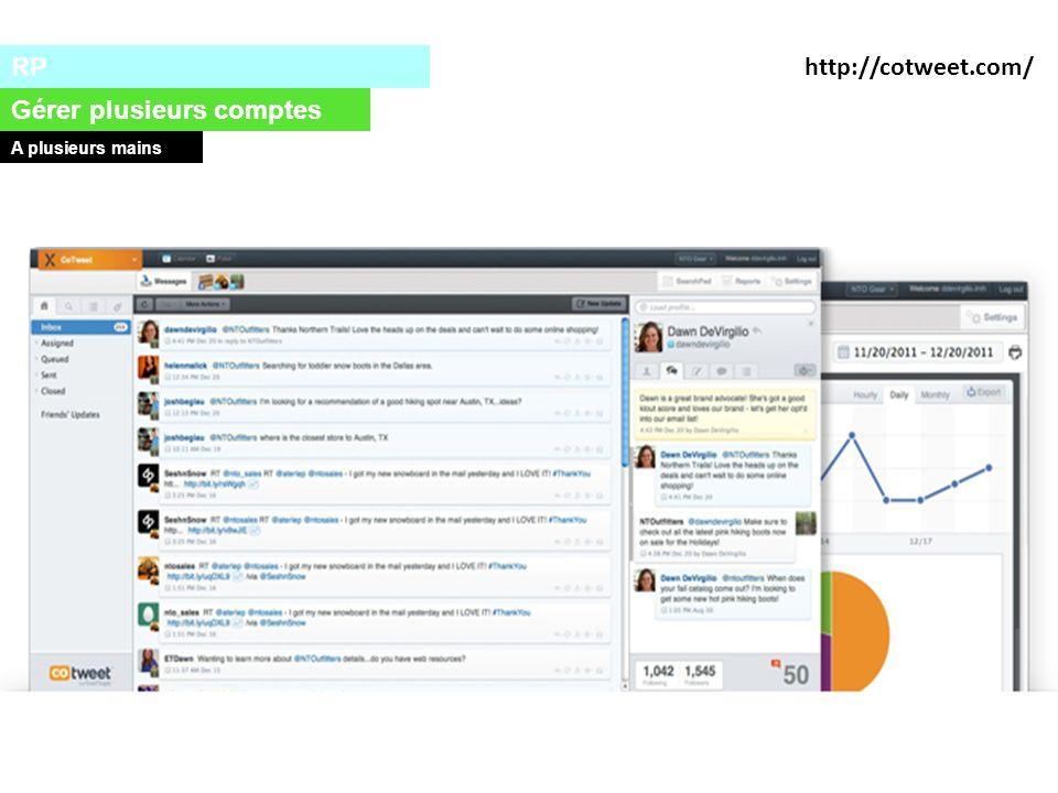 RP Gérer plusieurs comptes A plusieurs mains http://cotweet.com/