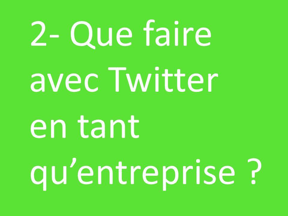 2- Que faire avec Twitter en tant quentreprise