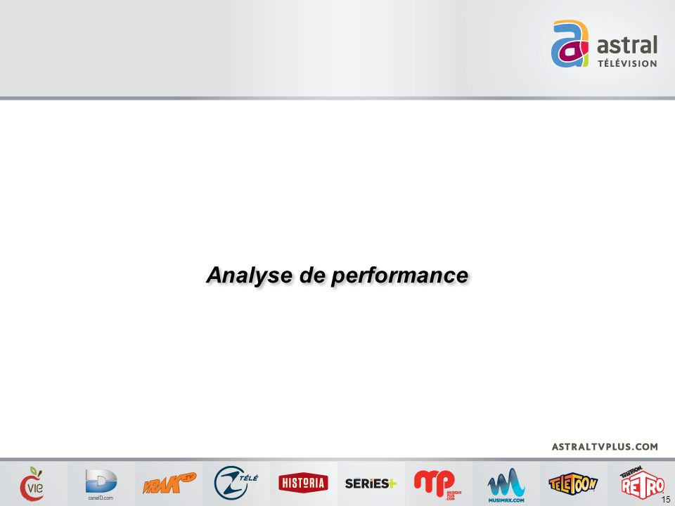 Analyse de performance 15