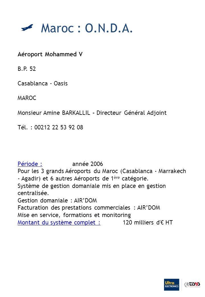 Aéroport Mohammed V B.P.