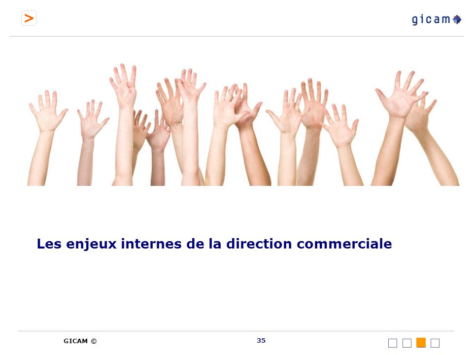 > GICAM © Les enjeux internes de la direction commerciale 35