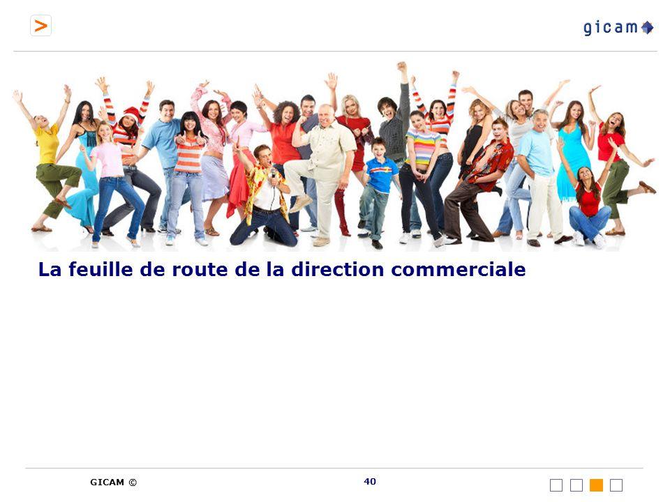 > GICAM © La feuille de route de la direction commerciale 40