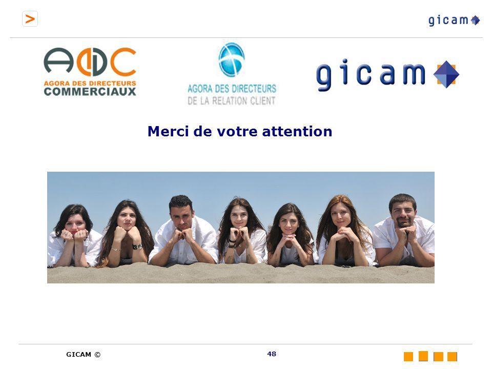 > GICAM © Merci de votre attention 48