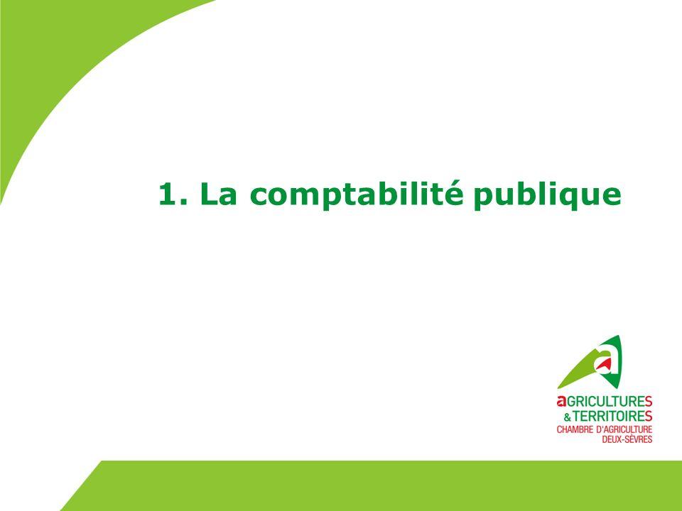1. La comptabilité publique