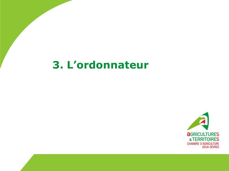 Lordonnateur Lordonnateur est le président de la chambre.