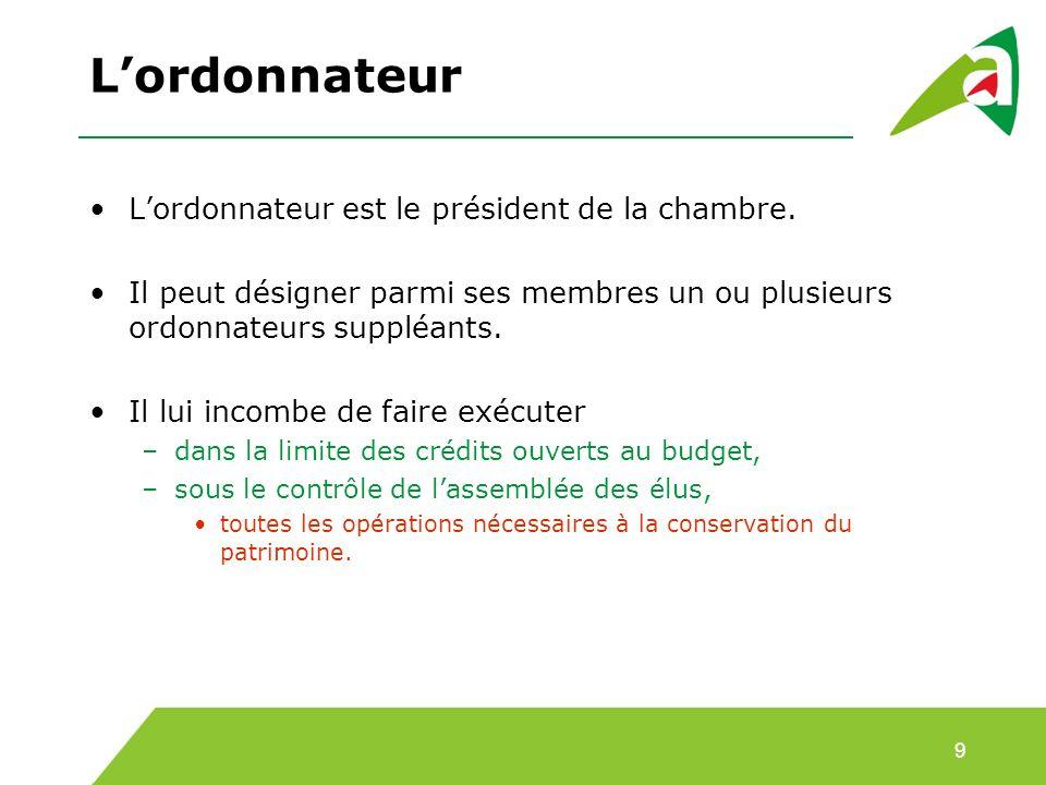 3. Lorganisation budgétaire