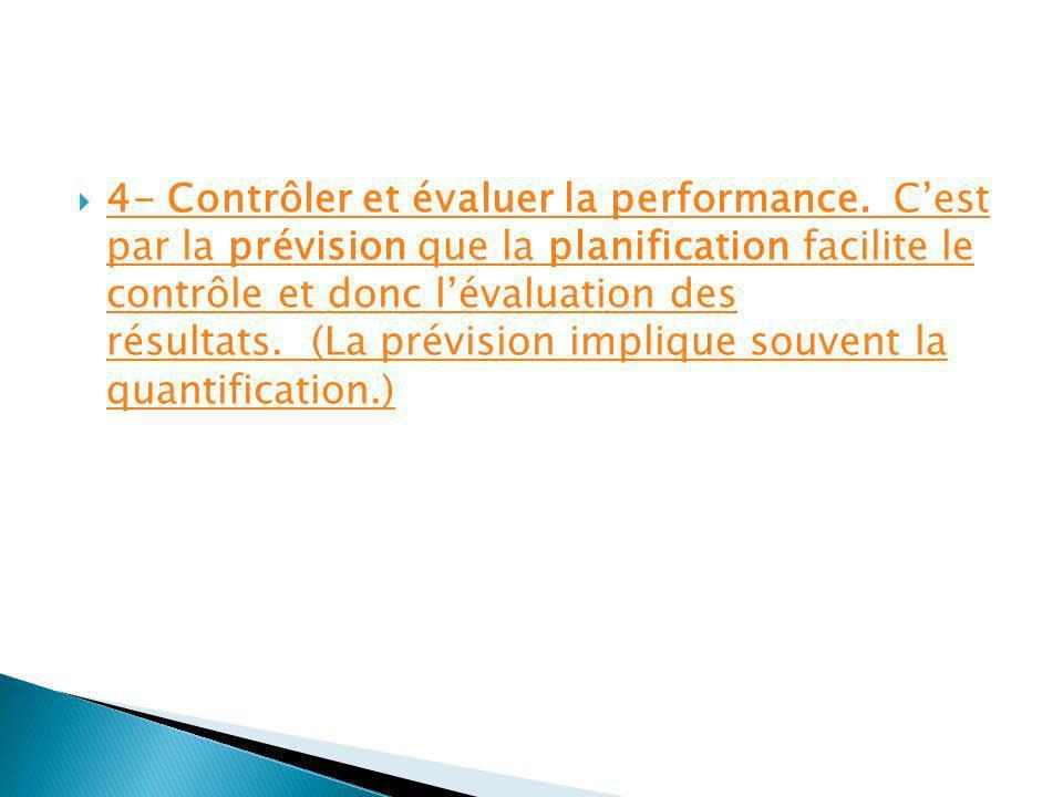 7- Le standard ou la norme: cest une valeur qui sert de norme de rendement ou de référence pour fin de comparaison.