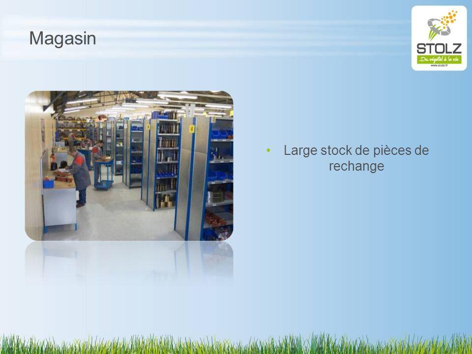 Magasin Large stock de pièces de rechange