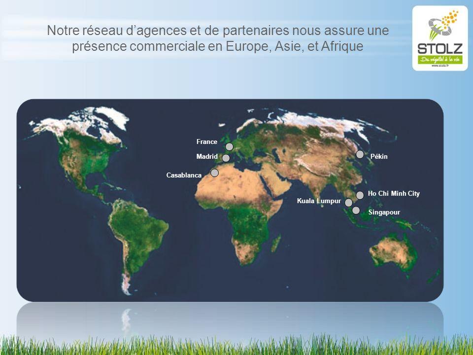 Notre réseau dagences et de partenaires nous assure une présence commerciale en Europe, Asie, et Afrique Madrid Casablanca France Pékin Ho Chi Minh Ci