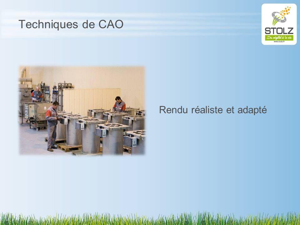 Techniques de CAO Rendu réaliste et adapté