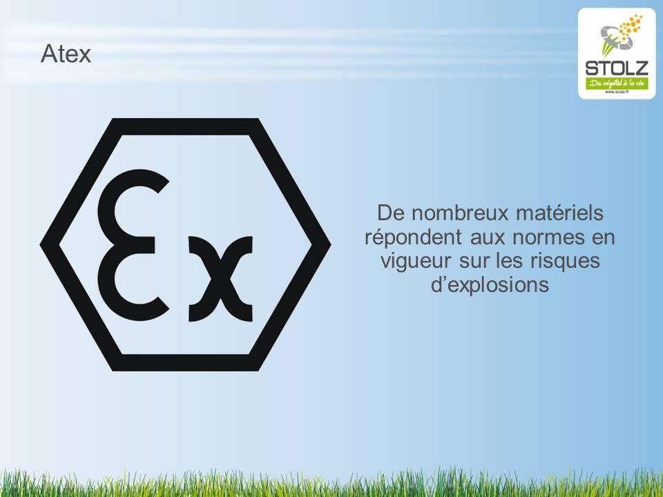 Atex De nombreux matériels répondent aux normes en vigueur sur les risques dexplosions
