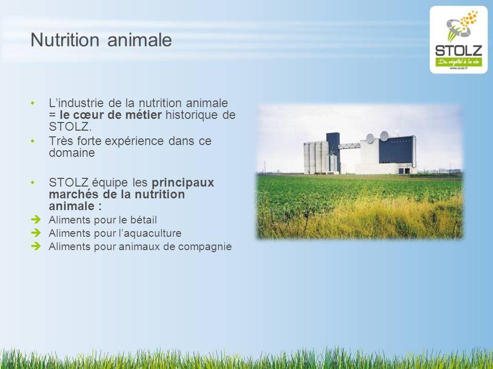 Nutrition animale Lindustrie de la nutrition animale = le cœur de métier historique de STOLZ. Très forte expérience dans ce domaine STOLZ équipe les p