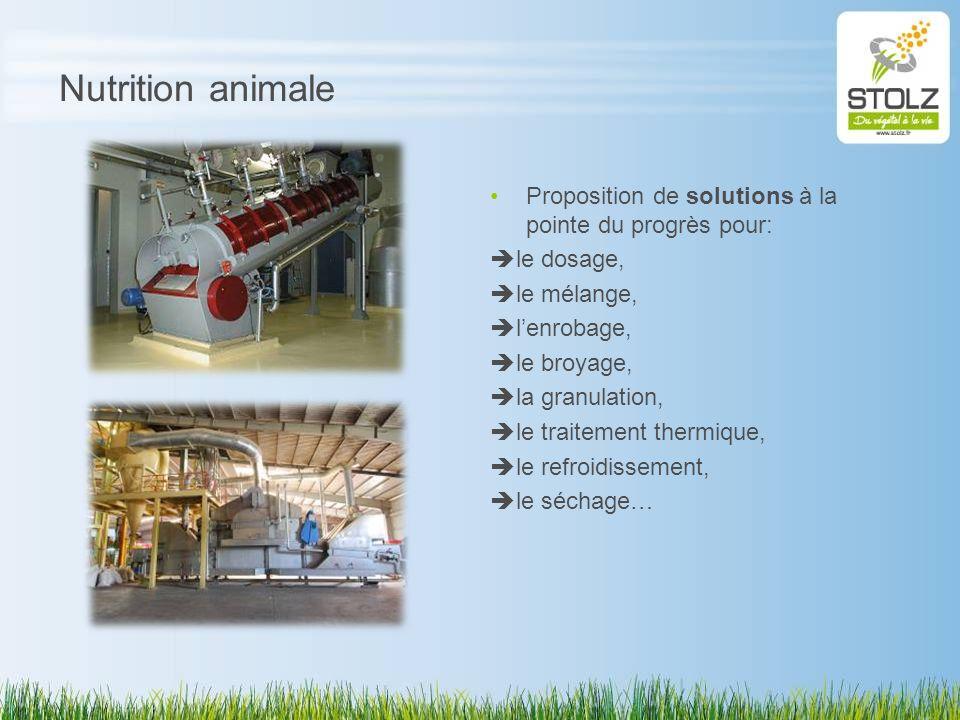 Nutrition animale Proposition de solutions à la pointe du progrès pour: le dosage, le mélange, lenrobage, le broyage, la granulation, le traitement th