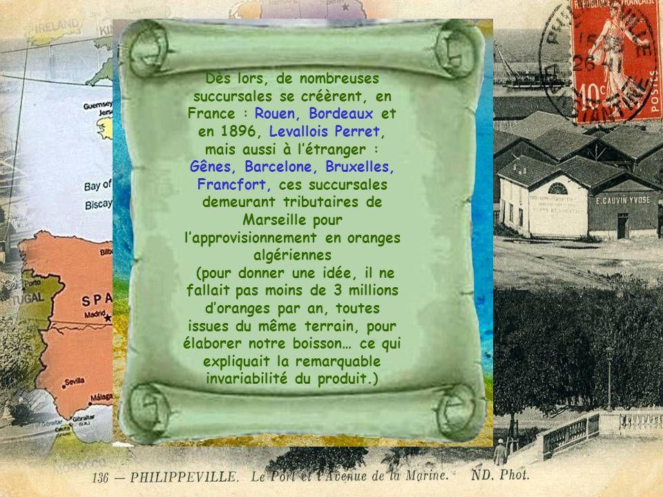 Dès lors, de nombreuses succursales se créèrent, en France : Rouen, Bordeaux et en 1896, Levallois Perret, mais aussi à létranger : Gênes, Barcelone,