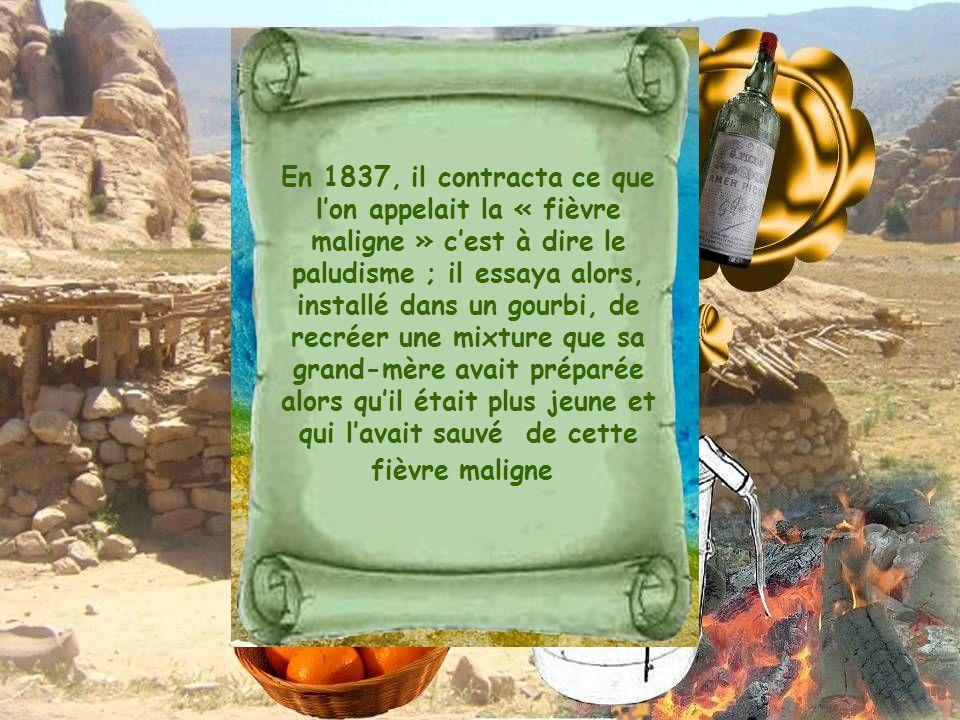 En 1837, il contracta ce que lon appelait la « fièvre maligne » cest à dire le paludisme ; il essaya alors, installé dans un gourbi, de recréer une mi
