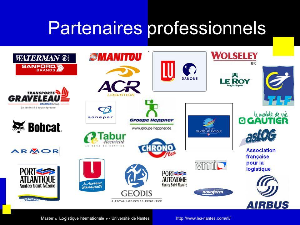 Partenaires professionnels Master « Logistique Internationale » - Université de Nantes http://www.lea-nantes.com/rli/