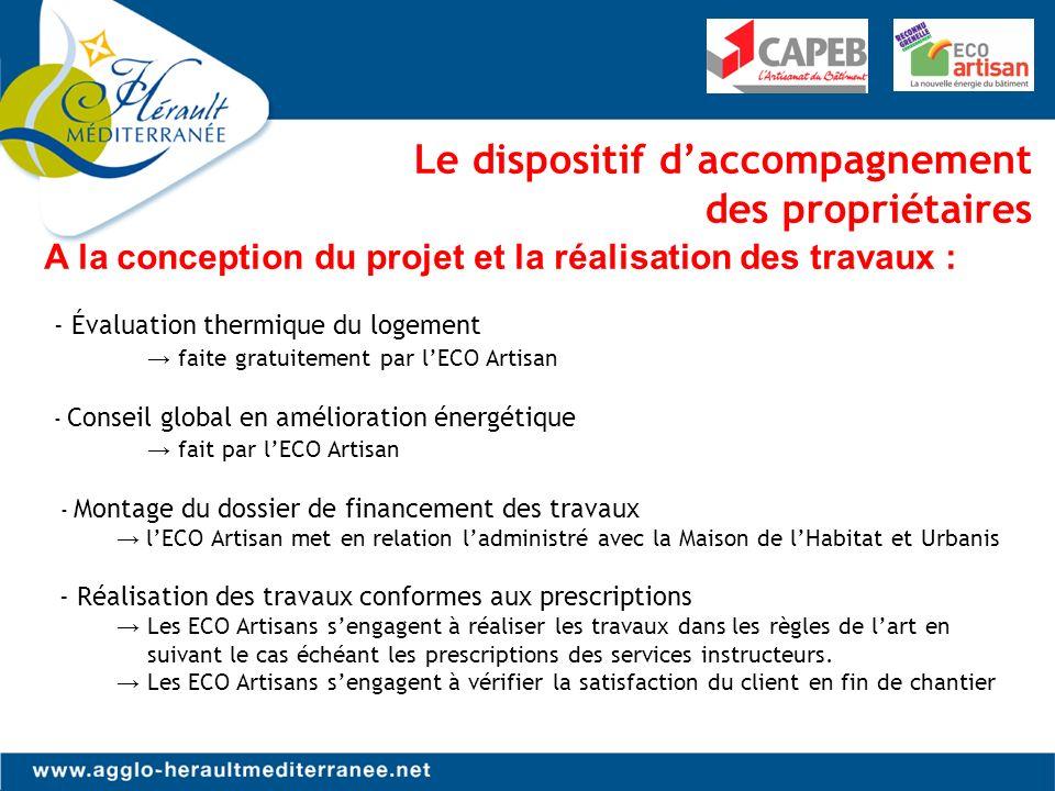 Les spécificités de laction CAHM - ECO Artisans Un partenariat Innovant La CAHM est le premier territoire de France sétant rapproché des entreprises pour atteindre un objectif stratégique Un partenariat Pertinent et efficace - En 2013, la CAHM a doublé le nombre de dossiers de subvention et a dépassé les objectifs fixés par lANAH - Un parcours bien encadré et plus lisible est proposé aux administrés pour mener à leur terme les projets de rénovation.