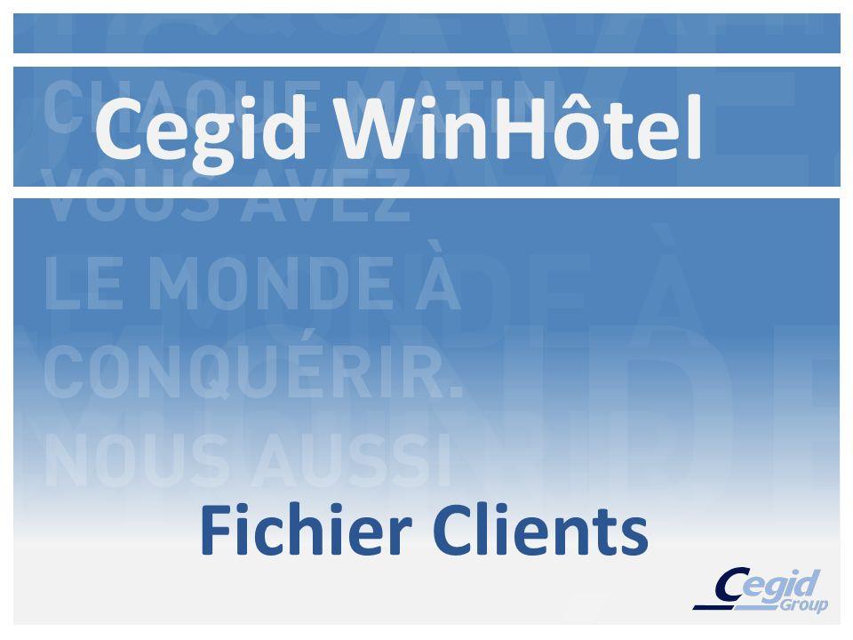 Fichier Clients Cegid WinHôtel